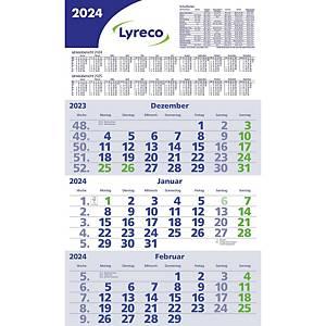 Dreimonatskalender 2020 Lyreco, 3 Monate / 1 Seite, 29,5x52cm