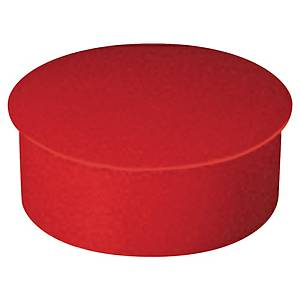 Lyreco Red Magnet Button 22mm - Pack of 10