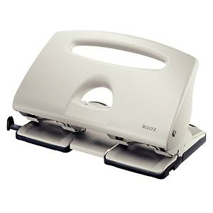 Leitz 5132 40 Sheet 4 Hole Punch - Grey