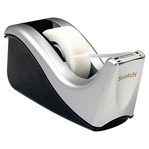 Scotch® Tape Dispenser C60 Zilver + 1 rol Scotch® Magic™ plakband, 19 mm x 33 m