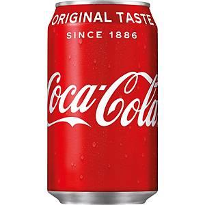 Coca-Cola frisdrank, pak van 24 blikken van 33 cl