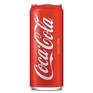 Coca-Cola 33 cl - plateau de 24 canettes slim