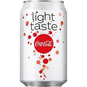 Coca-Cola light boisson non-alcoolisé cannette 33 cl - paquet de 24
