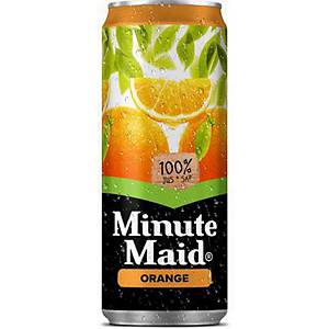 Jus d'orange Minute Maid, le paquet de 24 canettes de 33 cl
