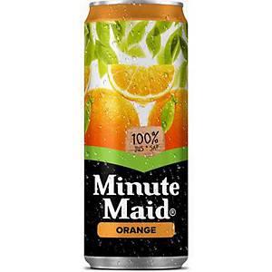 Minute Maid sinaasappel frisdrank, pak van 24 blikken van 33 cl