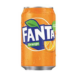 Soda Fanta orange, le paquet de 24 canettes de 33 cl