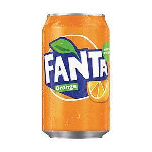 Fanta Orange frisdrank, pak van 24 blikken van 33 cl