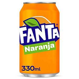 Pack de 24 latas de Fanta naranja - 33 cl