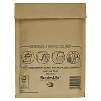 SealedAir Mail Lite® Gold légpárnyás tasak, 150 x 210 mm, barna, 100 db/csomag