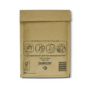 Mail Lite Bubble Lined Gold Postal Bags C0 150X210mm Box of 100