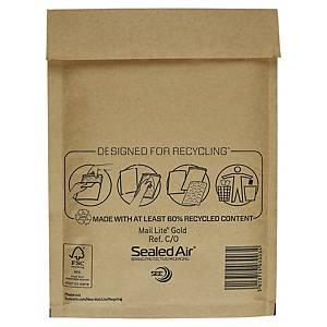 Pack de 100 envelopes com bolhas - 150 x 210 mm - castanho