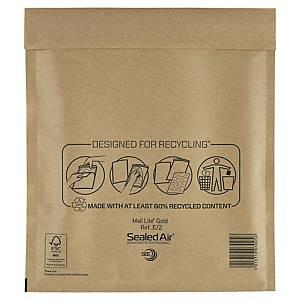 Pack de 100 sobres con burbuja - 220 x 260 mm - marrón