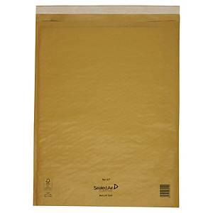 Pack de 100 envelopes com bolhas - 350 x 470 mm - castanho