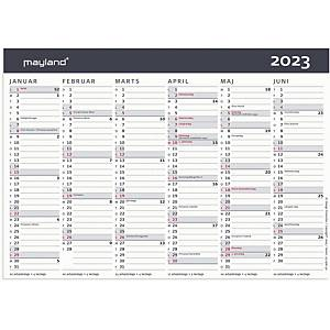 Kalender Mayland 0580 50, 2 x 6 måneder, A5, grå