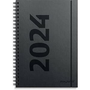 Kalender Mayland 2005 00, uge, 2020, A5, fiberpap, sort