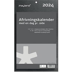 Afrivningskalender Mayland 2565 00, dag, 2021, 16,5 x 23,5 cm,  fiberpap, grå