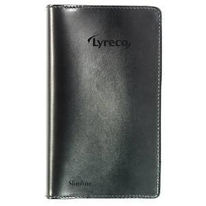 Kalender Lyreco Slimline, uge, 8,3 x 15,8 cm, kunstlæder, sort