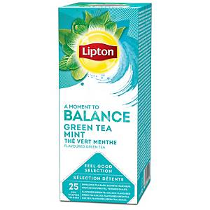 Lipton tea bags green mint - box of 25