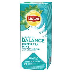 Lipton tea bags green mint - box of 25