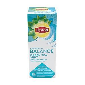 Thé vert menthe Lipton Feel Good Selection - 25 sachets fraîcheur