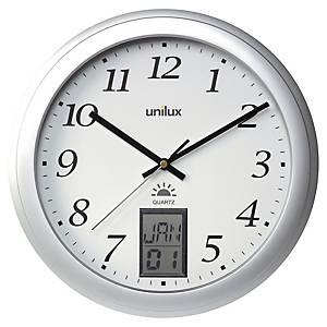 Horloge murale Unilux Instinct, 31 cm, gris métallique