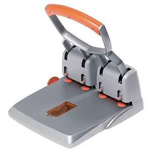 Furador de secretária Rapid HDC 150/4 - 4 furos - prateado/laranja