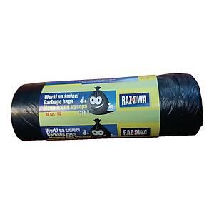 PK50 W60 DUSTBIN LINER HDPE 60L