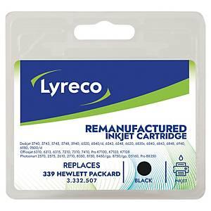 Tintenpatrone Lyreco komp. mit HP C8767EE - 339, Inhalt: 34ml, schwarz