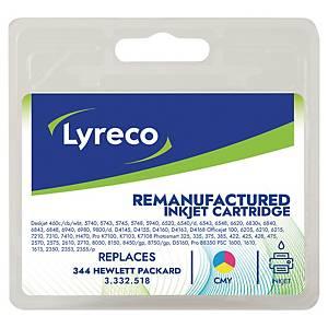 Lyreco remanufactured HP 334 (C9363EE) inkt cartridge, cyaan, magenta, geel
