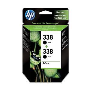 Hewlett Packard 338 Cb331E Inkjet Cartridge Black - Pack Of 2