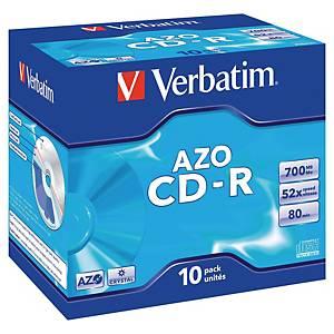 CD-R Verbatim, 700 MB, 52X, förp. med 10 st.