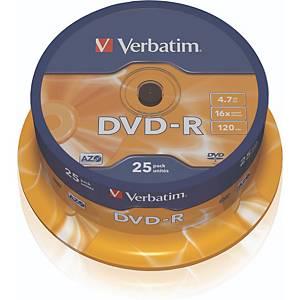 DVD-R Verbatim 43522, 4,7GB, Schreibgeschwindigkeit: 16x, Spindel, 25 Stück