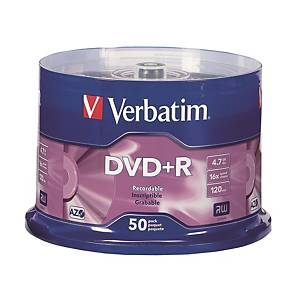 Verbatim DVD+R 4.7GB - Spindle Pack of 50