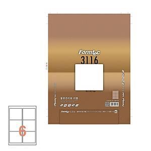 폼텍 물류용 라벨 LS-3116 99.1×93.1MM 100매