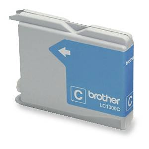 Cartouche jet d'encre Brother LC1000C, cyan