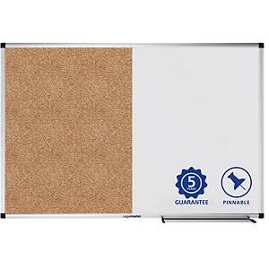 Tableau bivalent Legamaster - liège/laqué magnétique - 90 x 120 cm