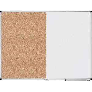 Legamaster combi-bord, whiteboard en prikbord, 120 x 90 cm