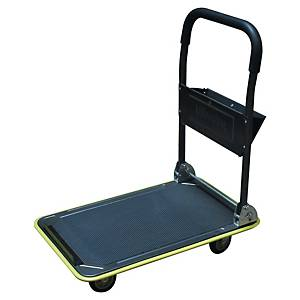 Chariot transport Safetool, plate-forme, tapis antidé., cap. chge jus. 150 kg
