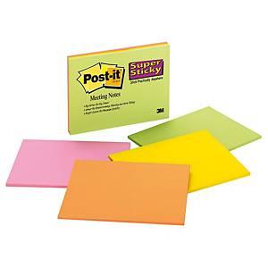 Pack 4 blocos 45 notas adesivas Post-it Super Sticky - sortido