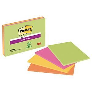 3M Post-it® 5845 Super Sticky bločky 203x152mm, 4 farby, bal. 4 bločkov/45 líst