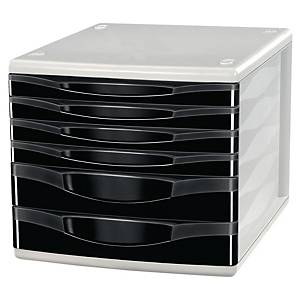 Lyreco 6 Drawers Unit Black