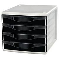 Lyreco Drawer Unit 4-Drawer A4 Black
