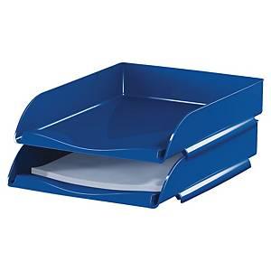 Briefkorb Lyreco Style, stapelbar, Maße: 260 x 345 x 64mm, blau
