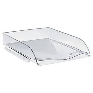 Briefkorb Lyreco Style, stapelbar, Maße: 260 x 345 x 64mm, kristallklar