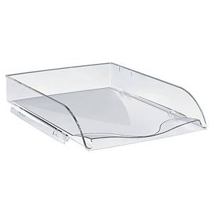 LYRECO STACKABLE LETTER TRAY- CLEAR