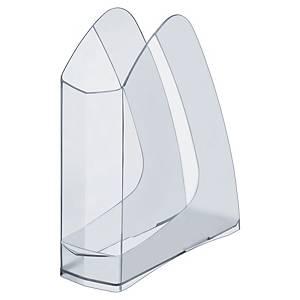 Lyreco 632 tijdschriftenhouder in kunststof, rug 75 mm, transparant