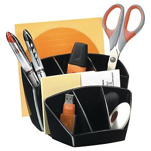 Lyreco bureau-organizer, 7 compartimenten, zwart