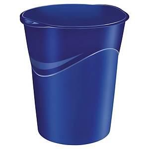 Corbeille à papier Lyreco ovale en plastique, 14 l, bleue