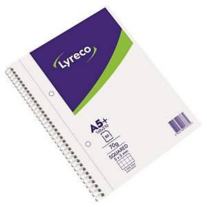 LYRECO 스프링노트 방안 5x5 70g A5 80매