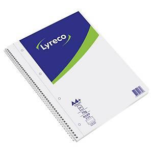 Zápisník Lyreco A4+ linkovaný se spirálou, 70gm2, 80 stran